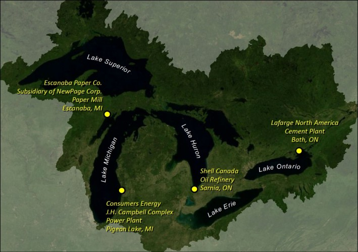 Map of the pilot sites.